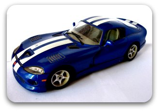 blue model toy car
