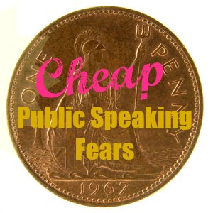 Old English penny - Caption: Cheap public speaking fears.