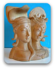Busts of two lovers
