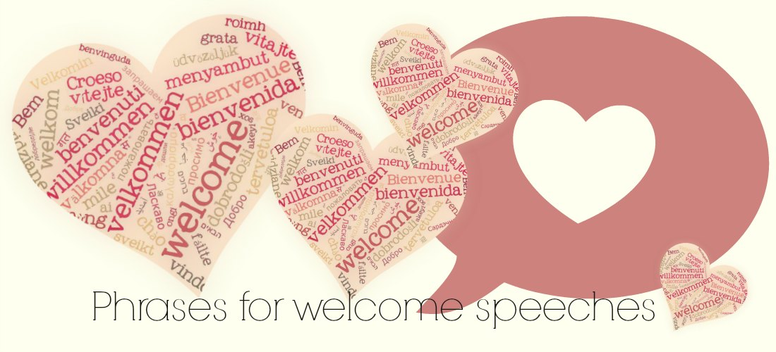write-out-loud.com - phrases for welcome speech banner