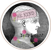 Phreneology head showing being kind to yourself