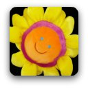 Bright yellow smily flower