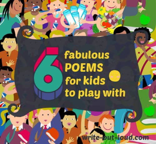 Image: Montage of children's faces.Text: 6 fabulous poems for kids to play with