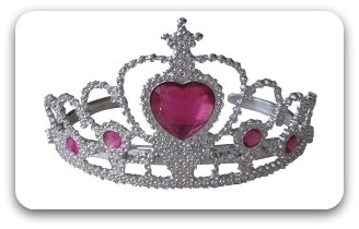 child's silver princess crown
