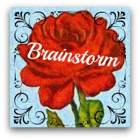Red rose graphic. Text: Brainstorm