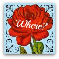 Red rose graphic. Text: Where?