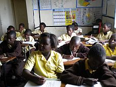senior students of Birdland School, Lusaka, Zambia in class
