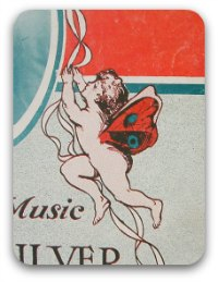 Vintage sheet music graphic