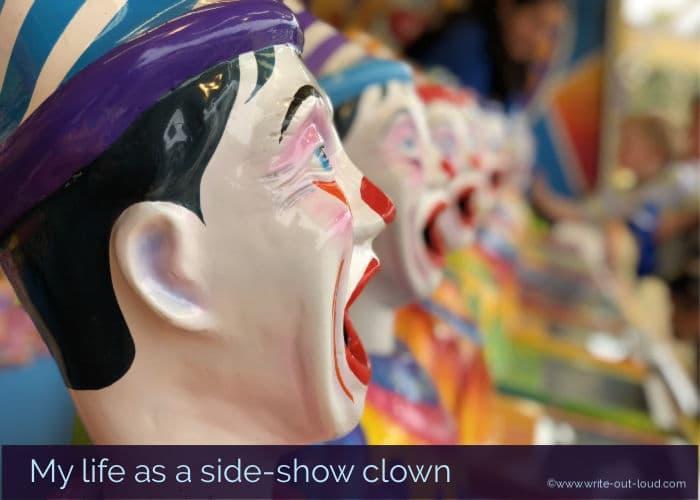 Side-show clown