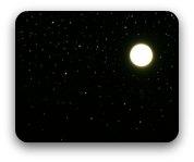 Night sky -bright  stars and a full moon