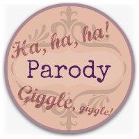 Verbal humor graphic - parody button