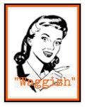 Retro woman graphic saying: