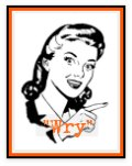 Retro woman graphic saying: