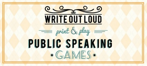 3 public speaking games banner - write-out-loud.com