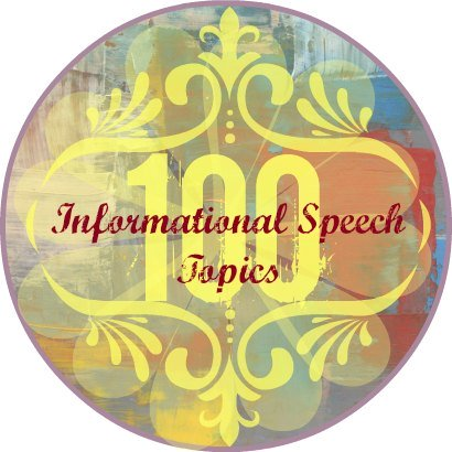 Informational speech topics button