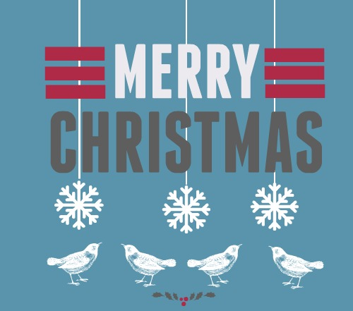 Merry Christmas - retro card