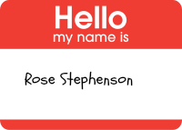 Hello My Name Is Rose Stephenson Sticker