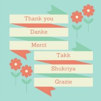 'Thank you' in multiple languages