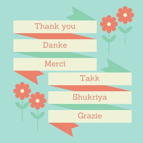 Thank you speech how to write a sincere appreciation speech thank you in multiple languages negle Choice Image