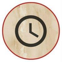 Simple clock face -symbolizing time
