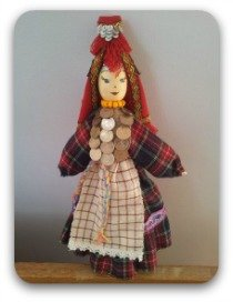 Russian Udmurt doll in traditional costume