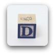 alphabet block D