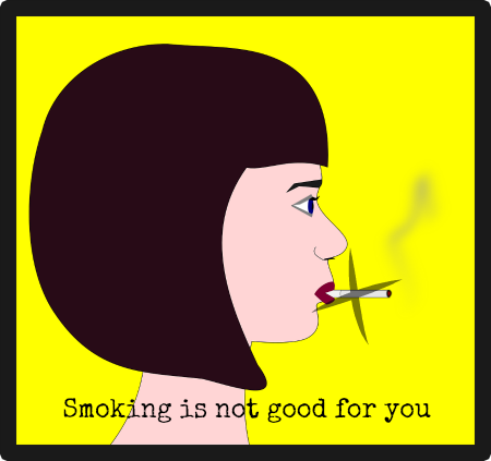 Smoking is not good for you graphic