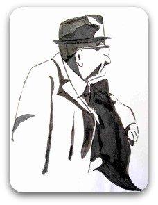 An older pompous man