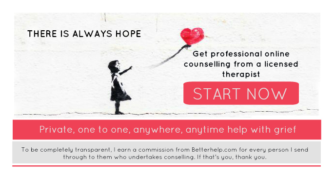 There is always hope - banner for Betterhelp.com - online counseling with professional therapists.