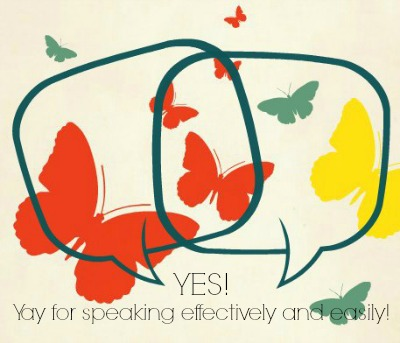 Butterflies in formation - allowing a person to speak confidently.