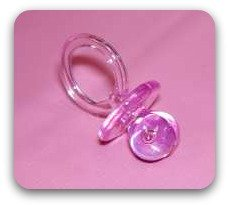 childs pink pacifier