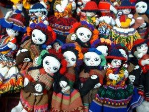 crowd of dolls