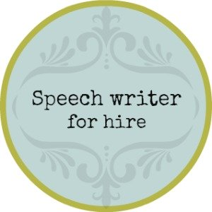 Writing a welcome speech