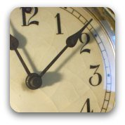 An old-fashioned clock face