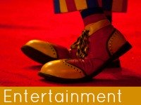 A pair of clowns shoes - entertainment & leisure speech topics