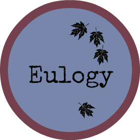 eulogy/funeral speech button