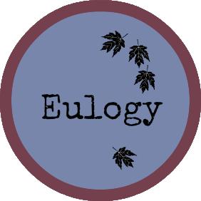 eulogy/funeral speech button