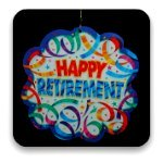 Happy retirement sign