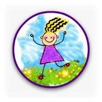 Cartoon of a happy girl
