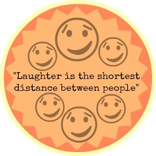 Laughter button graphic:
