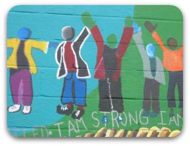 mural I am strong