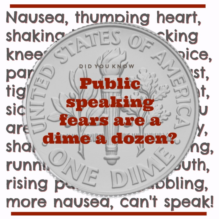 Public speaking fears are a dime a dozen - US dime image