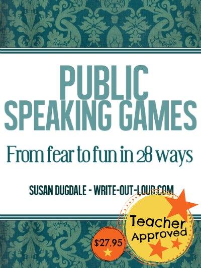 Public speaking games - ebook cover