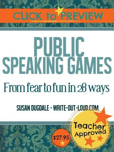 E-book cover: Public Speaking Games