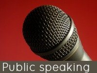 Microphone - public speaking speech topics