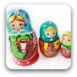 trio of Russian dolls