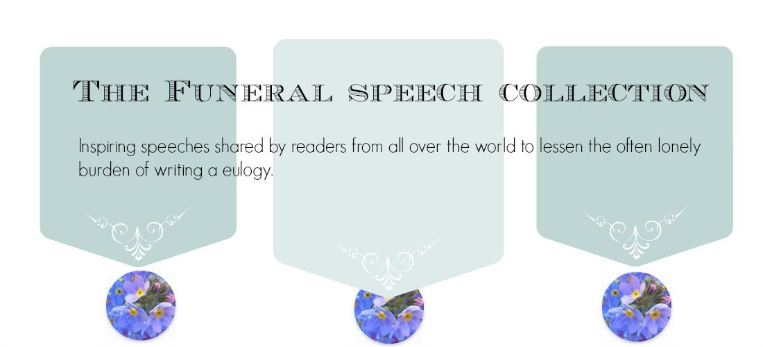 Write Out Loud.com   Free Sample Eulogies Banner