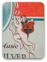 Vintage sheet music graphic