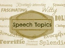 Speech topics banner