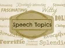 Speech topics banner
